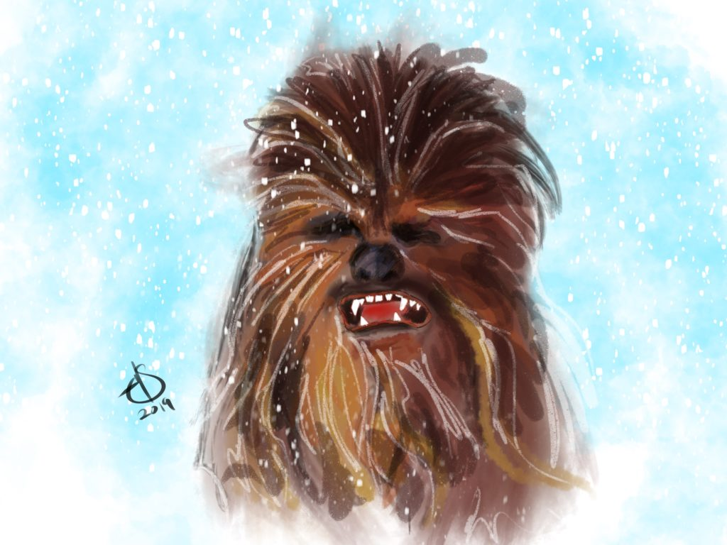 Artwork of Chewbacca by Michael Soto