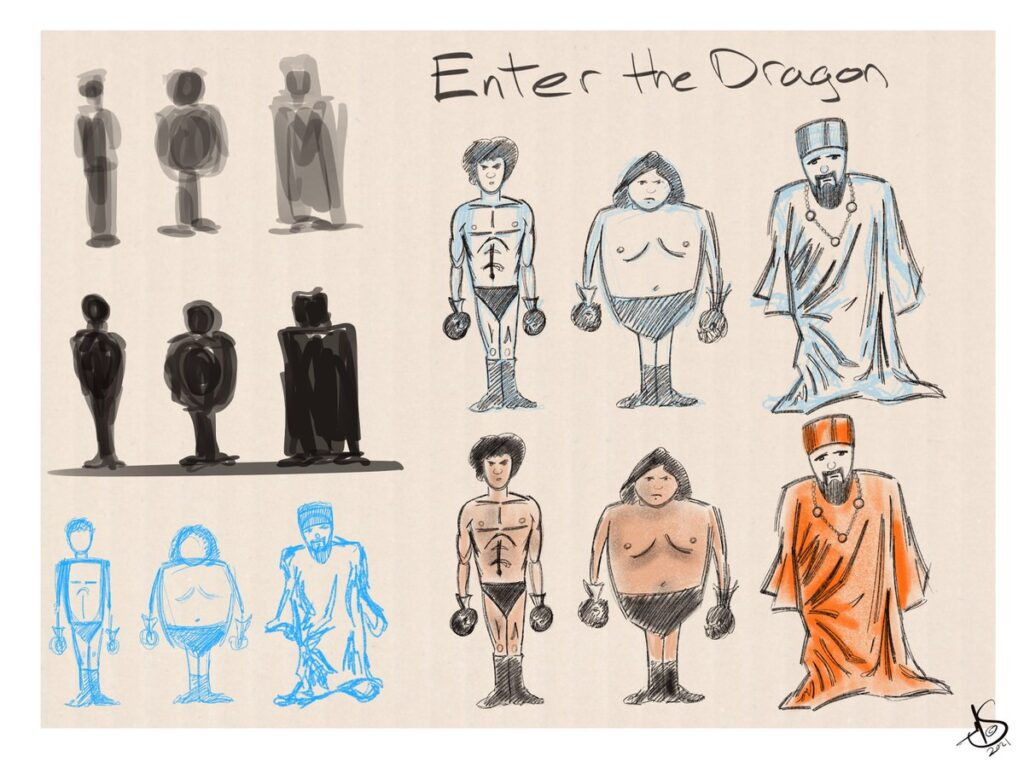 Character designs Enter The Dragon